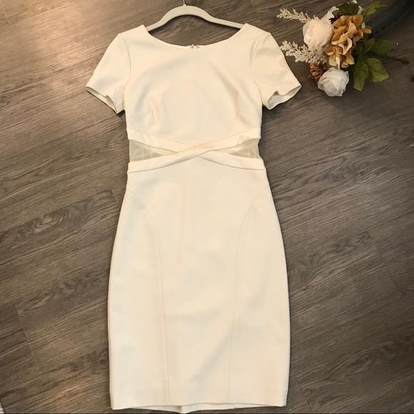 Halston Heritage Dresses & Skirts - Halston Heritage White bandage/ cutout dress